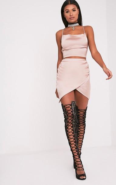c3cb6be927b dress nude nude dress two piece dress set two-piece silk silk dress pink  classic