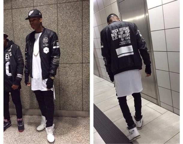 jacket black white swag blackfashion