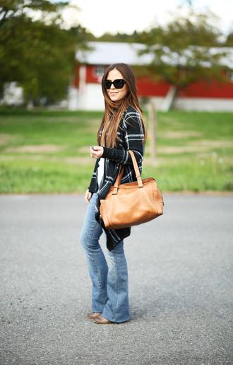 dress corilynn blogger jeans shirt sweater bag shoes sunglasses