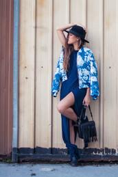 ist by ingrid,blogger,dress,bag,jacket,shoes,hat
