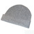 Light Grey Beanie Hat - 100% Cashmere - Ribbed Knit