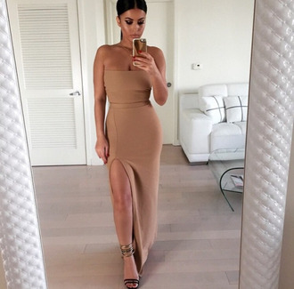 dress nude nude dress slit