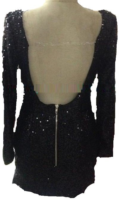 Sequined Strapless sequin dress hollow back long sleeve  · Outletpad · Online Store Powered by Storenvy