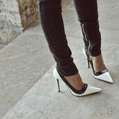 shoes,beautiful,black,white,black and white,heels