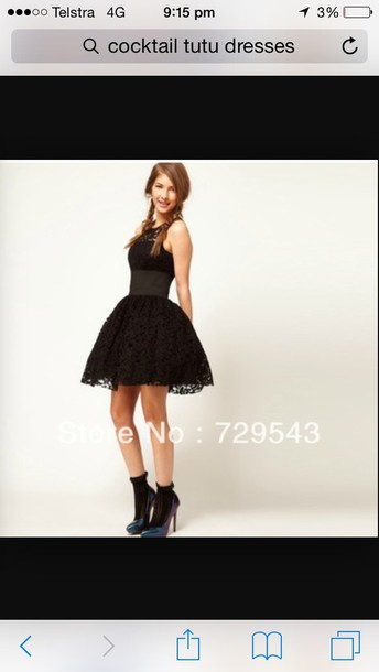 dress black cocktail tutu dress