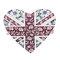 """""""floral union jack heart"""" t"""