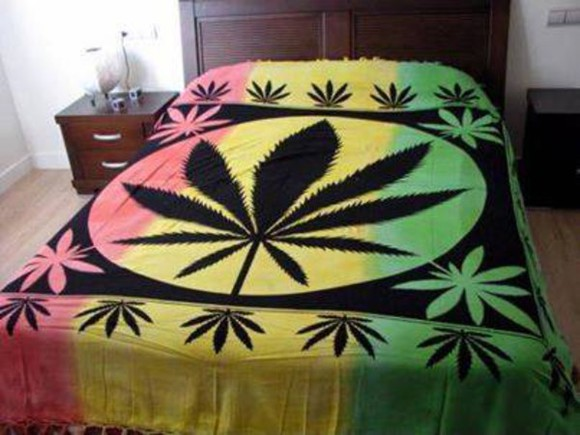 rasta bag blanket smoke snoker bud pot bedding