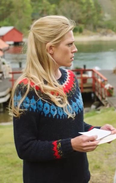 sweater blue wool