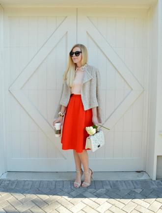 fash boulevard blogger midi skirt red skirt classy