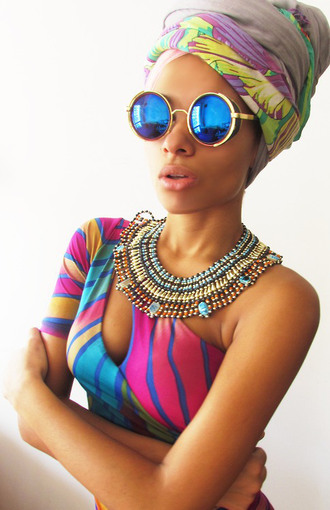 sunglasses dope foreign cool tropical jewels ankara black girls killin it bad bitches link up wavy sexy blouse beautiful gorgeous glasses tribal pattern