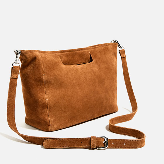 615b1d31c5 SPLIT SUEDE TOTE BAG - Bags-BASICS-TRF | ZARA United States