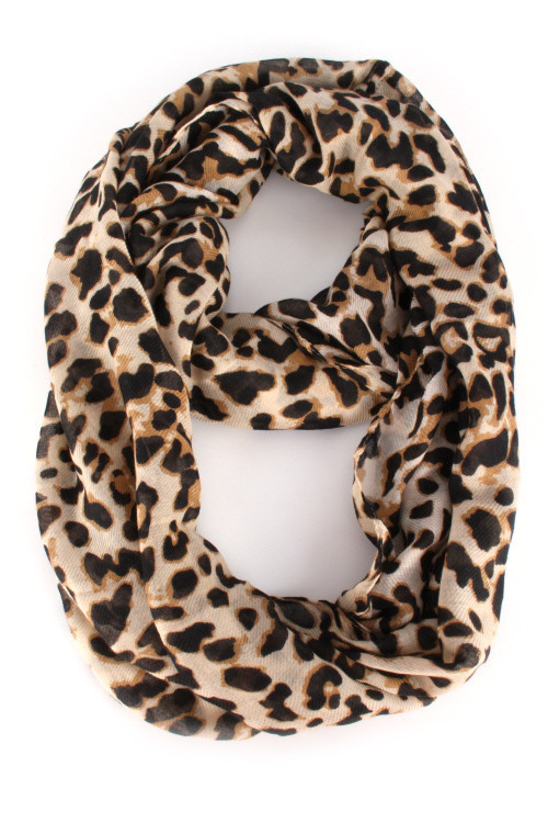 Brown animal print infinity scarf – betsy boo's boutique