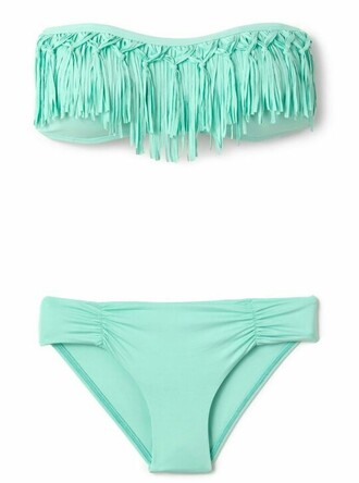 swimwear mint ties fringes loveit
