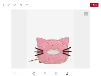 bag coin purse purse coin cats donut cat donut cute kawaii cute cat cute donut lovely pink yummy