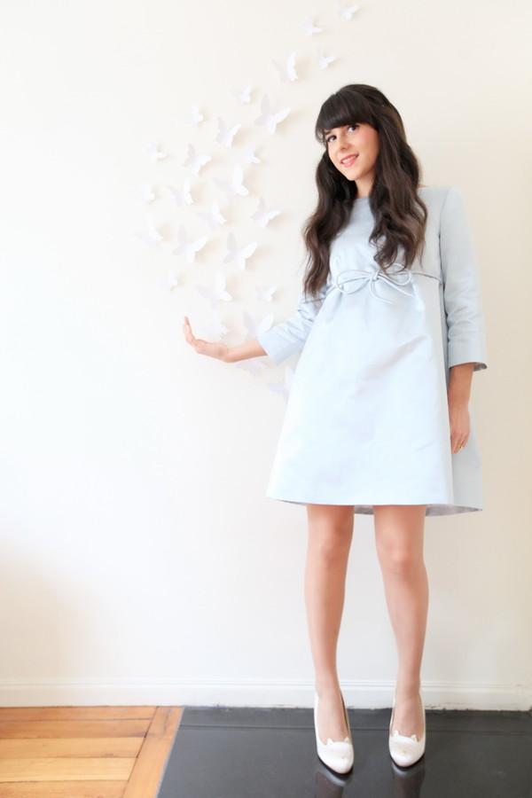 Favori Robe à noeud Bleu Ciel - Tara Jarmon - Boutique en ligne TARA JARMON JV47