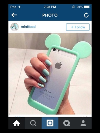 phone cover mint mickey mouse ears