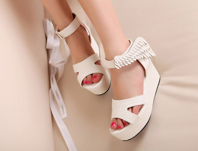 Wing platform sandals  from syndrome on storenvy