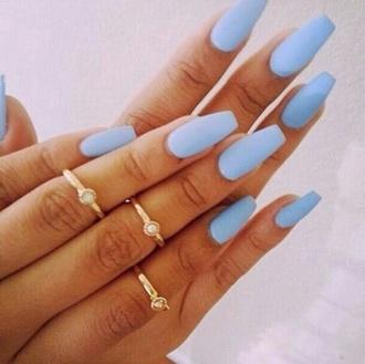 light blue perfect nail polish nails art