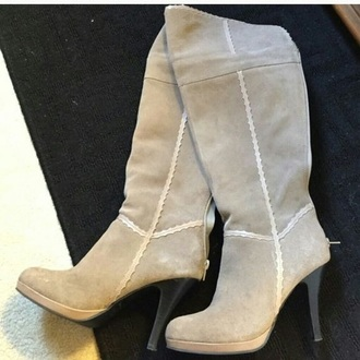 shoes over the knee boots nude grey heel boots fall boots