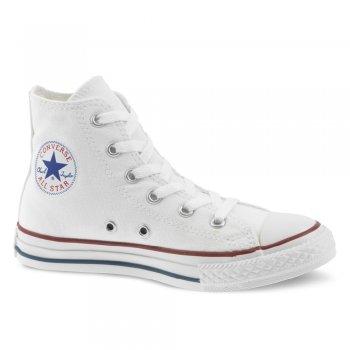 Converse White All Star Canvas Hi Top Kids Boot Converse