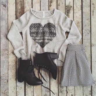 blouse grey sweater