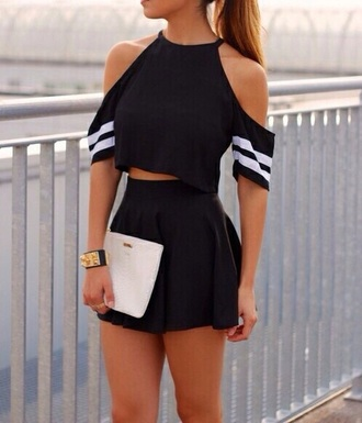 top black top striped shirt