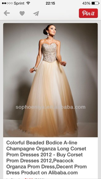 corset top champagne prom dress sequin dress