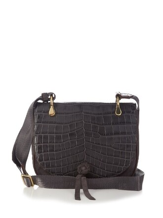 cross bag crocodile grey