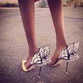 shoes,heels,wings,high heels,butterfly