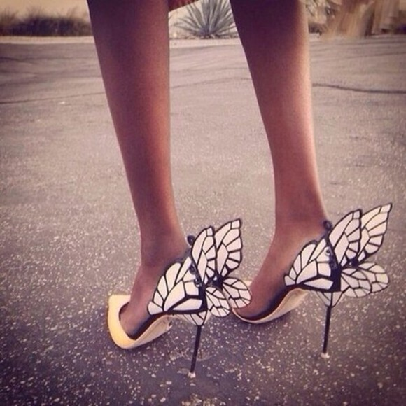 shoes butterfly wings high heels high heels