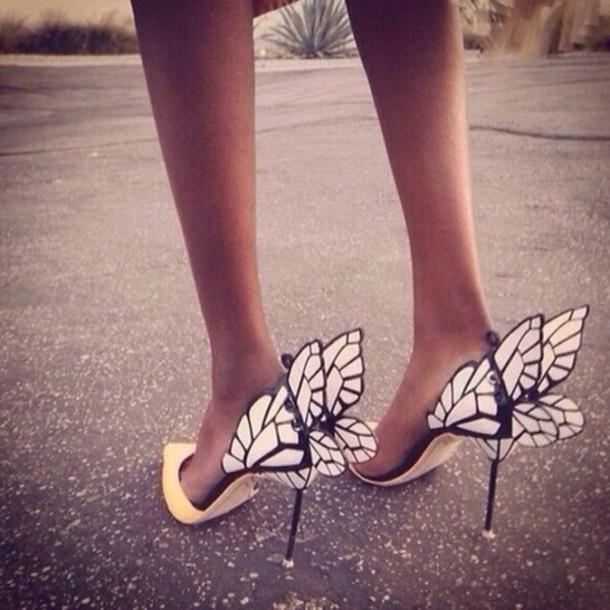 shoes heels wings high heels butterfly