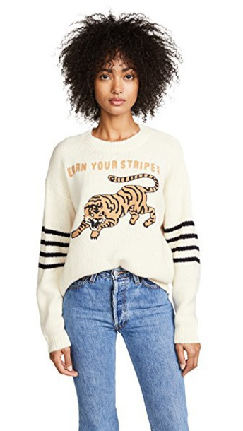 Mother sweater tiger stripes