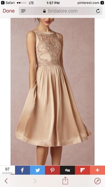 dress blush gold