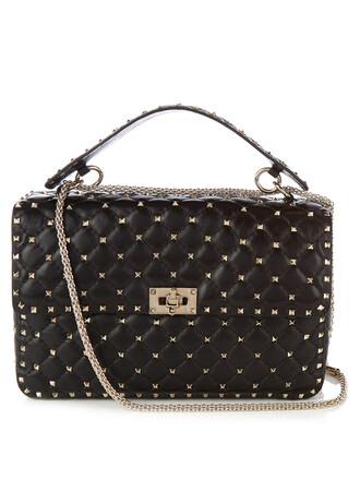 quilted bag shoulder bag leather black