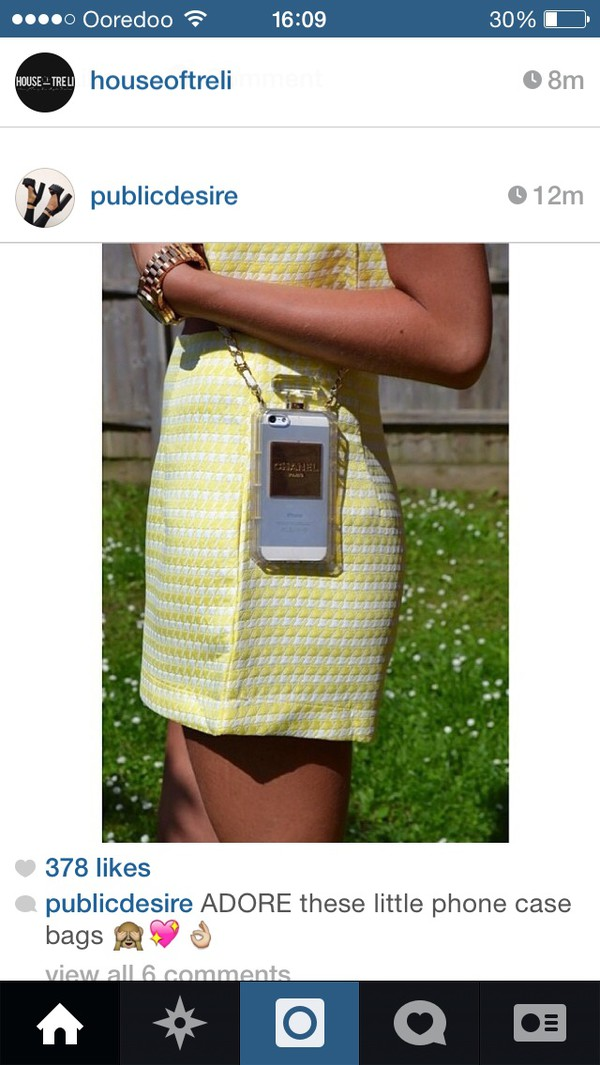 bag iphone case chanel phone case phone cover