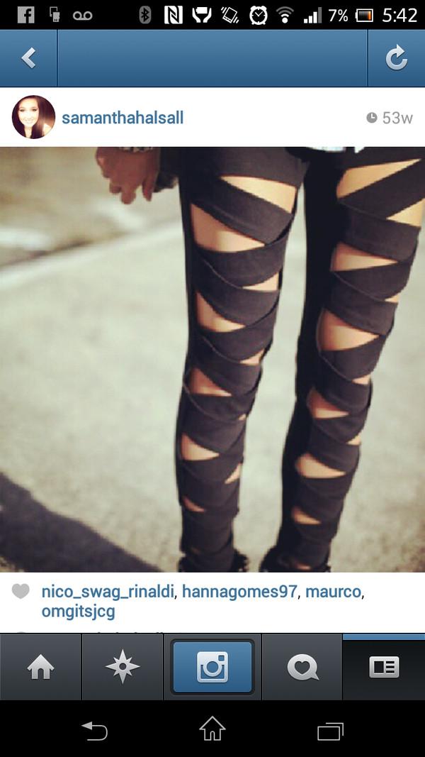 pants leggins black sexy legs