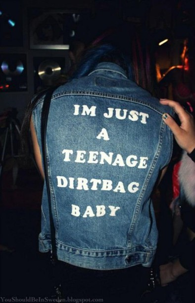 jacket denim vest teenage dirtbag wheatus teenagers one direction weheartit graphic tee jeans denim jacket sleeveless sleeveless jacket sleeveless jean jacket typography denim jacket coat denim jacket teenagers jeans im just a teenage dirtbag baby baby 1990 1990s blue jacket blue jeasn blue jeans girl scritta teenage dirtbag blue jacket blu jeans jacket jeansvest blue im just a teenage dirt bag baby grunge teenagers hipster punk dress fashion tumblr top song music quote on it band jean jacket oversized denim lyrics music band teenager dirtbag punk song cool cute