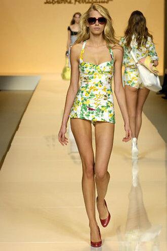 one piece yellow swimwear green swimwear white swimwear