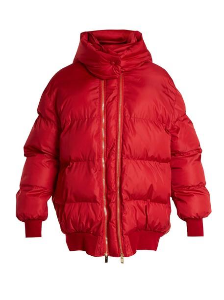 Stella McCartney jacket quilted dark dark red red