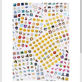 home accessory emoji print emoji sticker stickers smiley