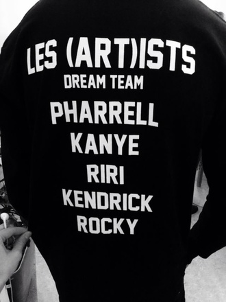 sweater rihanna kanye west black asap rocky t-shirt
