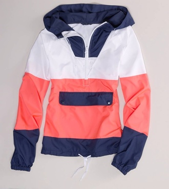 coat rain coat sweater pink blue white jacket pink blue white hoody hoody hoodie pink blue white hoodie salmon blue white hoodie cute sailor look southern style hoodie jacket