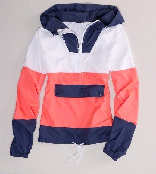 rain coat coat cute sweater pink blue white jacket pink blue white hoody hoodie pink blue white hoodie salmon blue white hoodie sailor look southern style hoodie