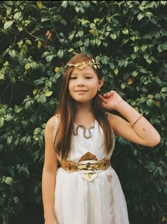 jewels gold headband belt braclet dress white cute necklace costume