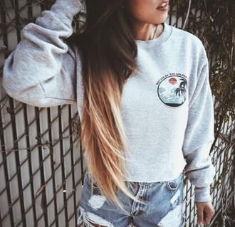 jacket crewneck sweater crewneck