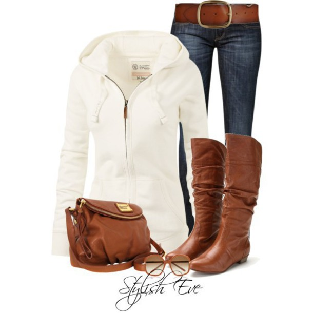 sweater fat face dakota hoodie white jeans boots bag shoes