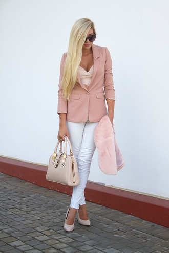 superficial girls blogger jacket top bag shoes