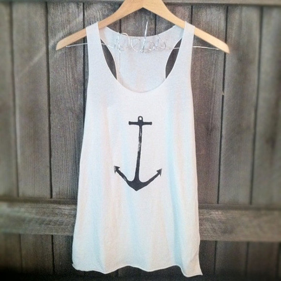 anchor tank top nautical