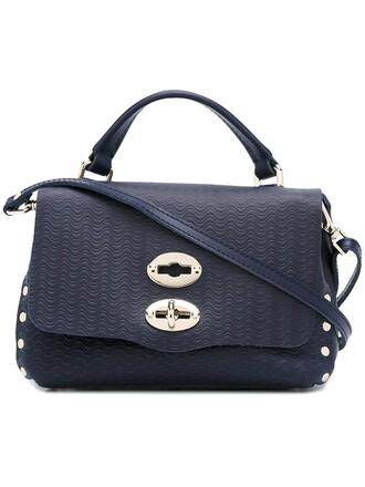 satchel women leather blue bag