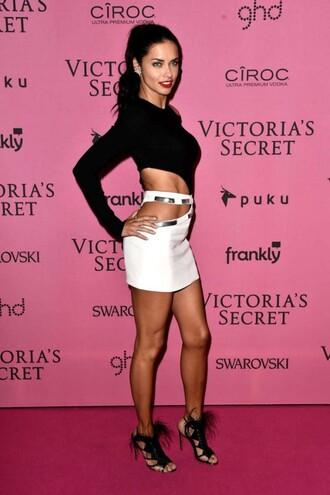 skirt adriana lima victoria's secret top mini skirt sandals